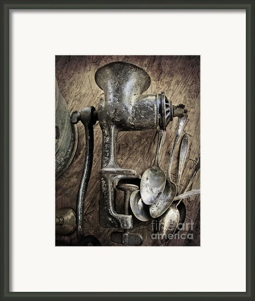 Still Life With Silverware Framed Print By Elena Nosyreva