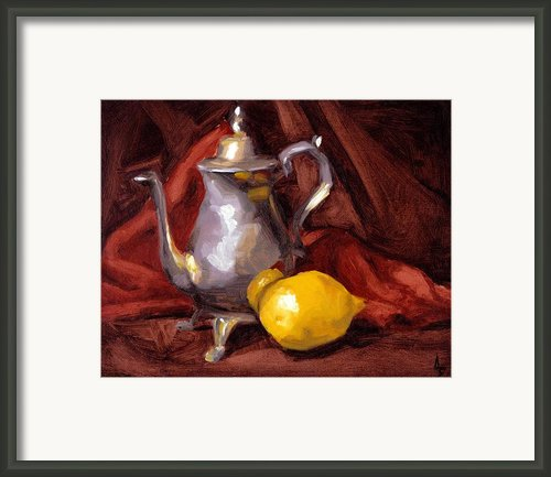 Still Life With Tea Pot Framed Print By Alison Schmidt Carson