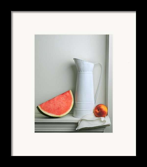 Still Life With Watermelon Framed Print By Krasimir Tolev