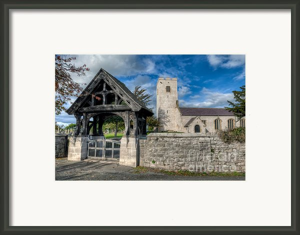 St.marcellas Entrance Framed Print By Adrian Evans