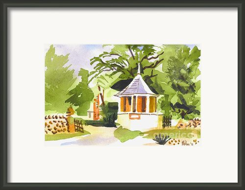 Stone Gazebo At The Maples Framed Print By Kip Devore
