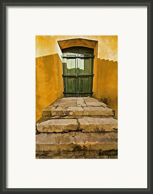 Stone Stair Entranceway  Framed Print By David Letts