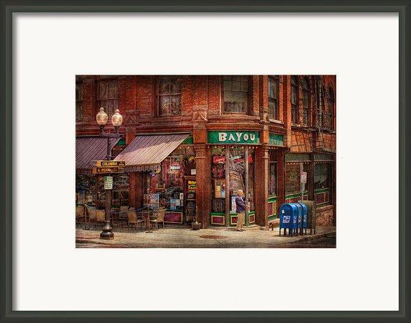 Store - Albany Ny -  The Bayou Framed Print By Mike Savad