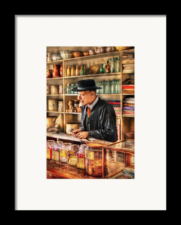 Store - In The General Store Framed Print By Mike Savad