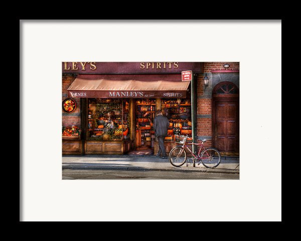 Store - Wine - Ny - Chelsea - Wines And Spirits Est 1934  Framed Print By Mike Savad