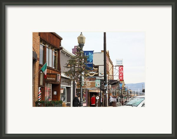 Storefront Shops In Truckee California 5d27489 Framed Print By Wingsdomain Art And Photography