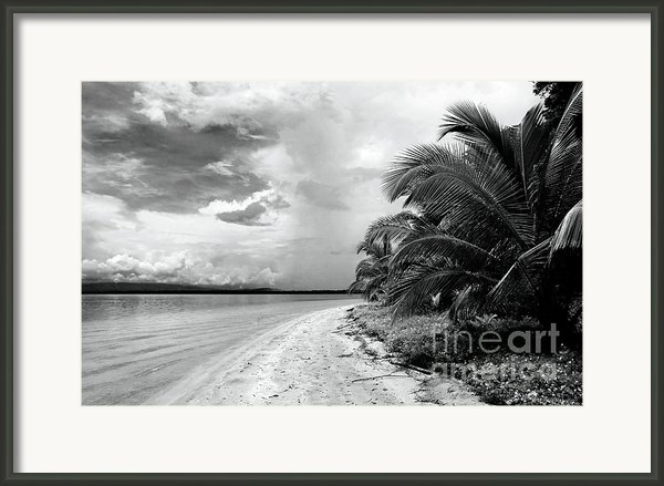 Storm Cloud On The Horizon Framed Print By John Rizzuto