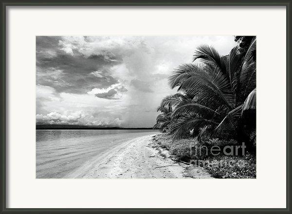 Storm Cloud On The Horizon Framed Print By John Rizzuto
