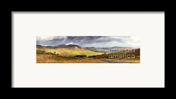 Storm Clouds Over The Glen Framed Print By Jane Rix