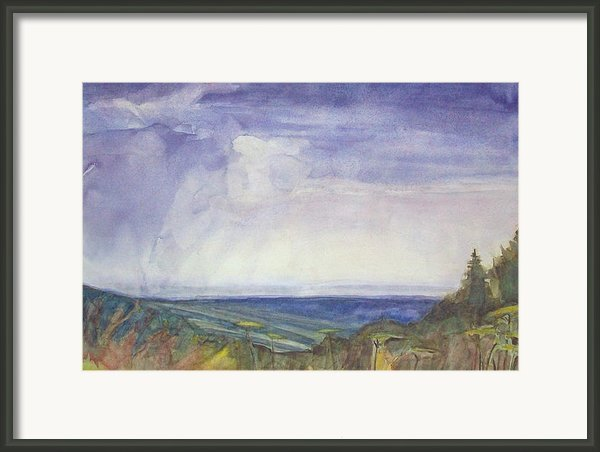 Storm Heaves - Hog Hill Framed Print By Grace Keown