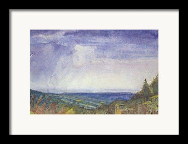 Storm Heaves - Hog Hill Framed Print By Grace Keown