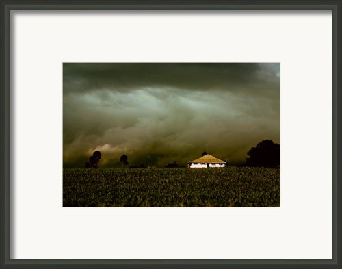 Storm On The Rise Framed Print By Holly Kempe