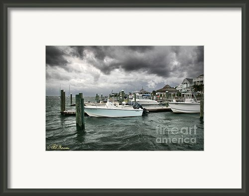 Storm Over Banks Channel Framed Print By Phil Mancuso