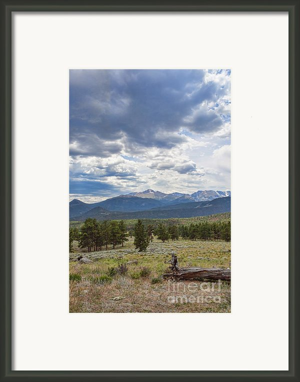 Storm Over Longs Peak Framed Print By Kay Pickens