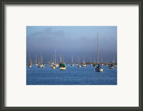 Storm Over Morro Bay Framed Print By John And Veronica Vandenburg