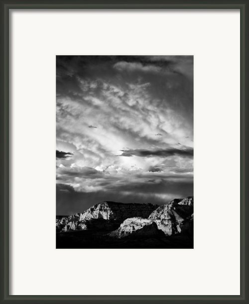 Storm Over Sedona Framed Print By David Bowman