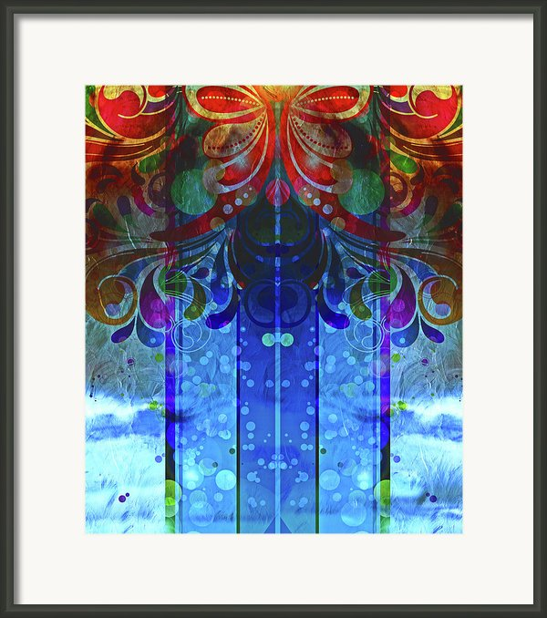 Storm Through The Window - Abstract  Framed Print By Zeana Romanovna