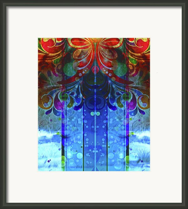 Storm Through The Window - Abstract  Framed Print By Zeana Romanovna