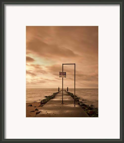 Storm Warning Framed Print By Evelina Kremsdorf