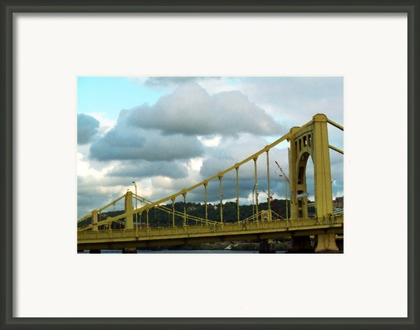 Stormy Bridge Framed Print By Frank Romeo