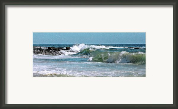 Stormy Lagune - Blue Seascape Framed Print By Ben And Raisa Gertsberg
