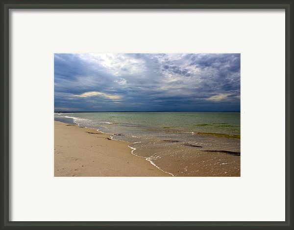 Stormy Mayflower Beach Framed Print By Amazing Jules