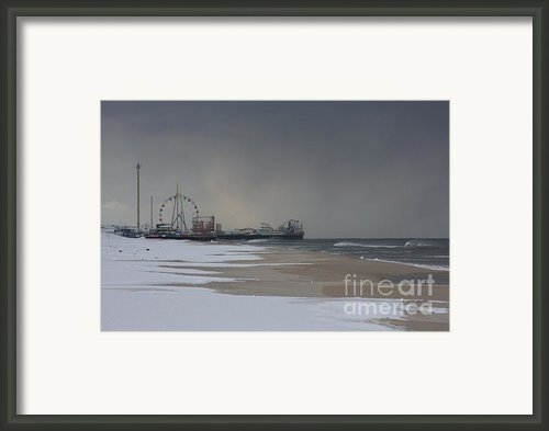 Stormy Piers Framed Print By Laura Wroblewski