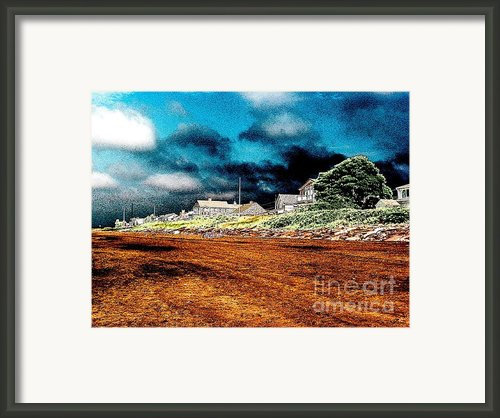 Stormy Weather At A Cape Cod Beach Framed Print By Annie Zeno