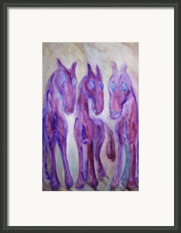 Strangers In The Night   Framed Print By Hilde Widerberg