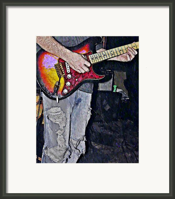 Strat Man  Framed Print By Chris Berry