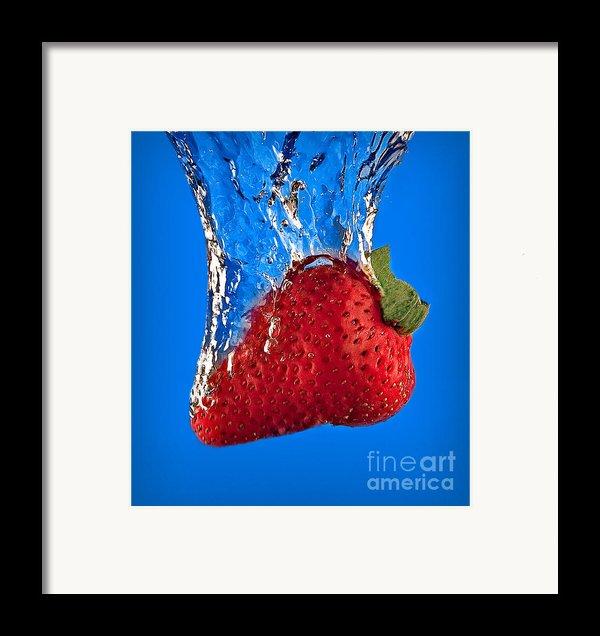 Strawberry Slam Dunk Framed Print By Susan Candelario