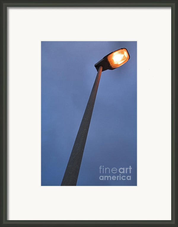 Street-lamp At Evening  Framed Print By Jose Elias - Sofia Pereira