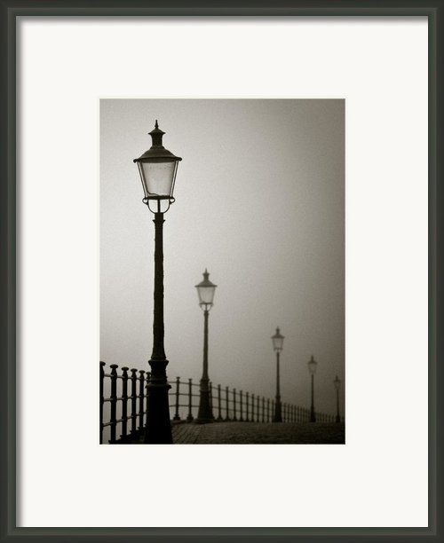 Street Lamps Framed Print By David Bowman
