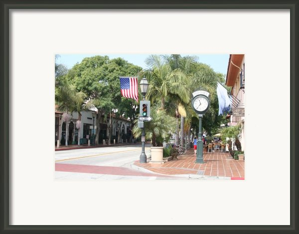 Street Of St.barbara Framed Print By Christiane Schulze