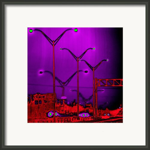 Streetlight Serenade 6 Framed Print By Wendy J St Christopher