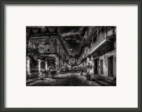 Streets Of Havana Bw Framed Print By Erik Brede