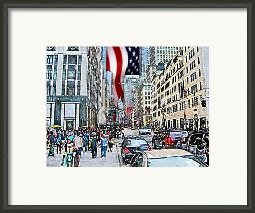 Streets Of Manhattan 2 Framed Print By Mario  Perez