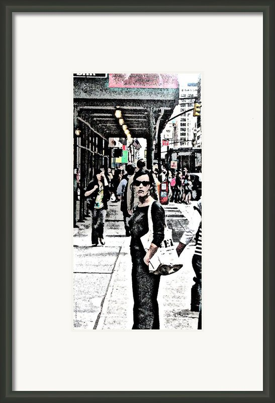 Streets Of Nyc 19 Framed Print By Mario  Perez
