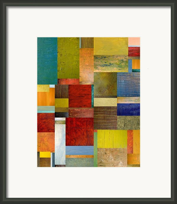 Strips And Pieces L Framed Print By Michelle Calkins