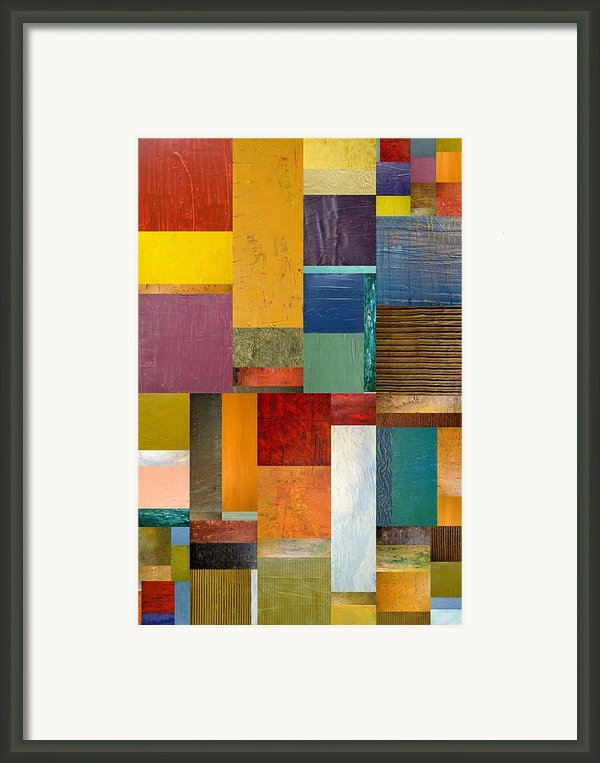 Strips And Pieces Ll Framed Print By Michelle Calkins