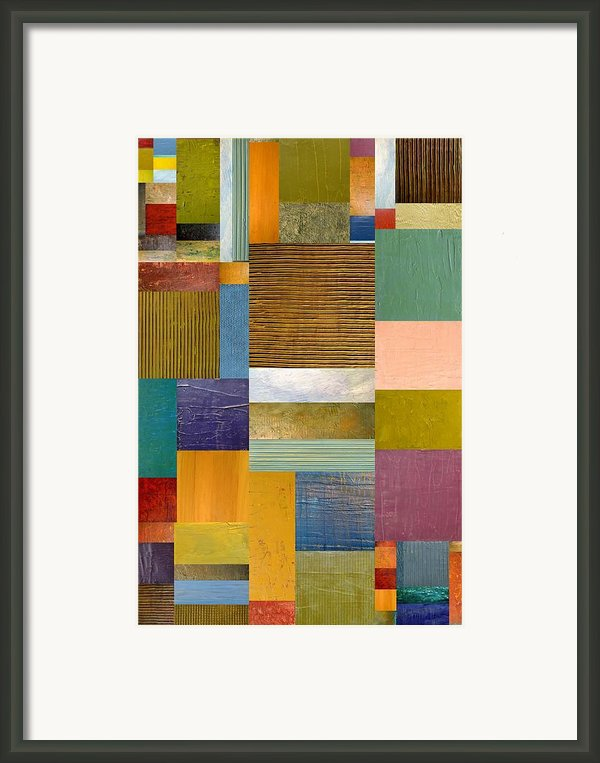Strips And Pieces Lv Framed Print By Michelle Calkins