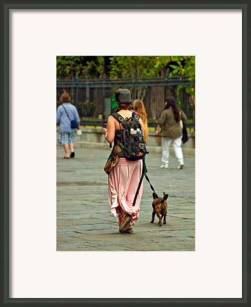 Strolling In Jackson Square Framed Print By Steve Harrington