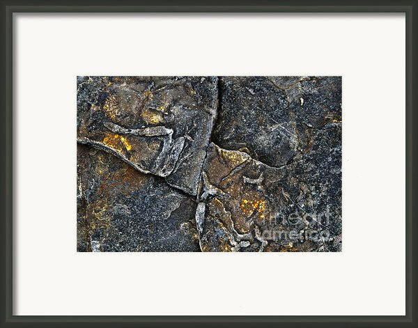 Structural Stone Surface Framed Print By Heiko Koehrer-wagner
