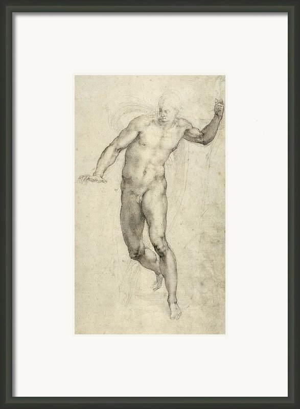 Study For The Last Judgement  Framed Print By Michelangelo  Buonarroti