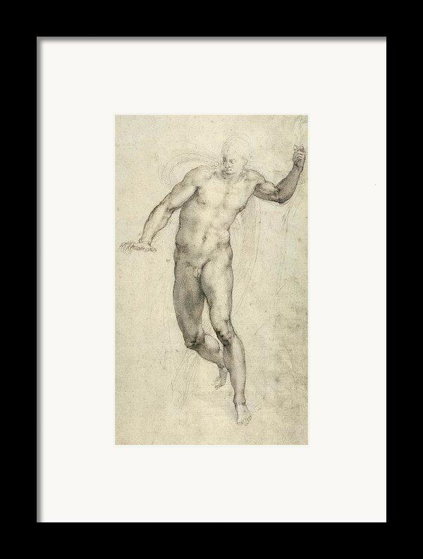 Study For The Last Judgement  Framed Print By Michelangelo  Buonarroti