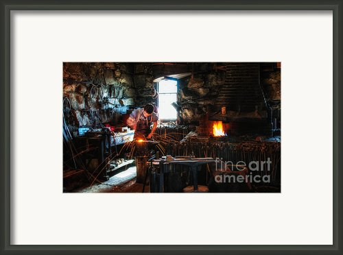 Sturbridge Village Blacksmith Framed Print By Scott Thorp