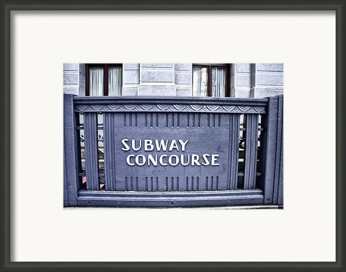 Subway Concourse At City Hall Framed Print By Bill Cannon