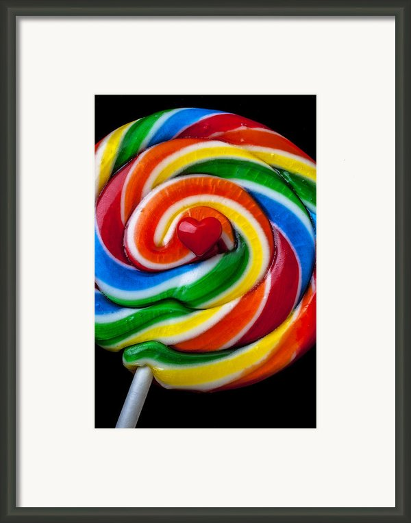 Sucker Heart Framed Print By Garry Gay