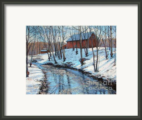 Sugar Brook Framed Print By Gerard Natale