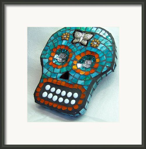 Sugar Skull Framed Print By Jenny Bowman
